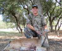 exotic doe hunted in hills of mason, tx