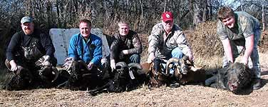 hunting with a group of people in the texas hill country