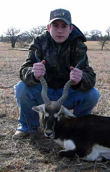 hunting Blackbuck Antelope in the texas hill country in mason county TX