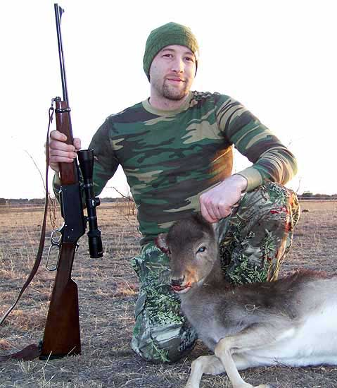 Hunting fallow deer in the rolling hills of mason county tx