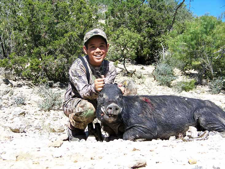 Trophy Boar Hunting in the steep hills of Central Texas