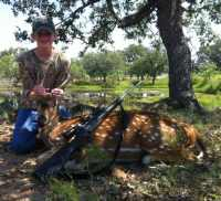 Axis buck management youth hunt in hill country