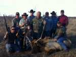 group photo bull elk hunt hill country
