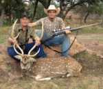 Trophy Axis buck shot in gorgeous hill country